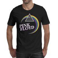 t cor-de-rosa preto dos homens venda por atacado-Pink-Song-Floyd-Lyrics-logo Psicodélico rocha black mens camisetas impressão personalizado super-herói camisas banda clássico t camisa