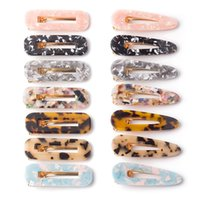 Wholesale textured paper for sale - Group buy Free DHL Styles Acrylic Hair Clip for Girls Women Leopard Marble Floral Textured Geometric Duckbill Barrette Hairpin Hair Accessories