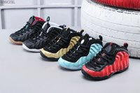 Wholesale height increasing shoes for children for sale - Group buy With Box Unisex Kids Penny Hardaway Foam One Basketball Shoes Boys Purple Sports Girls Sneakers for Child Children Athletic Teenage