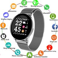 Wholesale russian silver bracelets resale online - 2019 New Smart Fitness Bracelet Heart Rate Monitor Tracker Blood Pressure Spo2 IP67 Waterproof Weather Forecast Wristband Watch