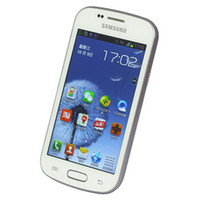 Wholesale samsung trend phones online – custom Samsung Refurbished Unlocked Original GALAXY Trend Duos II S7572 G WCDMA Cell Phones ROM Inch Dual Core MP Android Phone