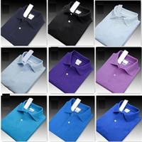 erkekler için serin yaz gömlekleri toptan satış-Yeni 2019 Yaz Erkekler Lüks En kaliteli Timsah Nakış Polo Gömlek Kısa Kollu Serin Pamuk Slim Fit Casual İş Erkekler Gömlek e5