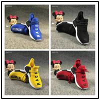 grande corrida venda por atacado-Adidas HUMAN RACE NMD TR Big Kids NMD Calçados Esportivos para o Miúdo Humano Formadores de Corrida Meninos Pharrell Williams Despeje Enfants Esporte Sapato Juventude Sneakers