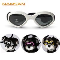 dog sunglasses al por mayor-Creative Dog Cat Gafas de sol para Teddy Puppy Gafas de esquí Accesorios para perros Cute Pet \ 'S Goggles para proteger tus ojos
