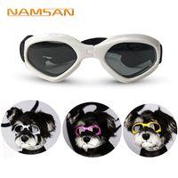 dog sunglasses toptan satış-Yaratıcı Köpek Kedi Teddy Yavru Kayak Gözlükleri Için Güneş Gözlüğü Köpek \ 'ın Aksesuarları Sevimli Hayvan Göz Korumak İçin Gözlük Serin Hayvan Ücretsiz