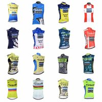 Wholesale jersey cycling saxo green online - SAXO BANK TINKOFF team Cycling Sleeveless jersey Vest Quick Dry Compressed Bicycle Clothing Men Size XS XL F