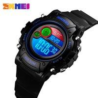 relógios de moda de plástico venda por atacado-SKMEI NOVAS Crianças Assista Moda Caso À Prova D 'Água De Plástico Alarme Relógio de Pulso Meninos Meninas Digital Crianças Relógios reloj 1477