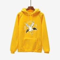 dantel sweatshirt toptan satış-Kış Ceket Rahat Pembe Harajuku Yıldız Yarasa Baskı Lace Up Kadınlar Hoodies Polar Boy Kadife Kapüşonlu Sweatshirt Kazak Kadın
