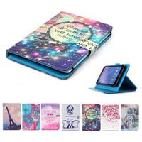 samsung tab plus großhandel-Cartoon gedruckt universal 7 zoll tablet case für samsung galaxy tab 7.0 plus p6210 p6210 fällen kickstand flip cover fällen taschen