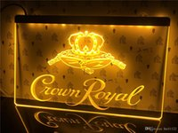 corona real iluminada signo de barra al por mayor-A104 Crown Royal Derby whisky NR Beer Bar LED luz de neón