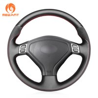 MEWANT Hand-Stitched Black Artificial Leather Car Steering Wheel Cover for BMW 3 Series E90 E91 E92 E93 2006-2011 320 318i 320i 325i 330i 320d X1 328xi 2007 Customized Other Thread