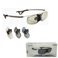 3d lg projektör toptan satış-Mitoot Aktif Obtüratör 3d Dlp Gözlük Benq Z4 Için Metal Ayaklar / h1 / g1 / p1 Lg, fındık, acer, optoma Dlp-link Projektörler Miyopi Klip Ile J190506