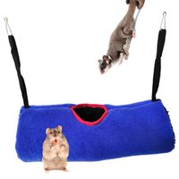Wholesale guinea pigs toys for sale - Group buy Hamster Toys Tunnel Guinea Pigs Squirrel Sugar Glider Keep Warm Hammock Cotton Wo Small Pet Parrot The Bird s Nest Tunnel Toys