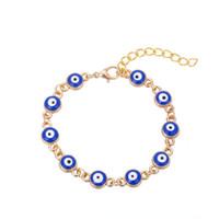 bracelet turquie achat en gros de-Turquie Bleu Mauvais Oeil Charmes Chaîne Simple Bracelet Réglable Bracelet De Noël Cadeau Bracelets Bijoux Livraison gratuite