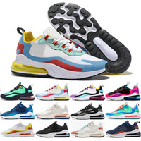 ingrosso kd scarpe da basket-Nike Air Max 270 2019 React Purple Mens training Triple Black white presto Tiger oliva donna Designer tn Scarpe sportive all'aperto Scarpe zapatos us13