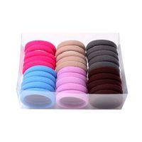 Wholesale seamless elastic band for sale - Group buy 20Pcs Women Girls Ponytail Hair Holder Elastic Nylon Spandex Band Rope Girls Seamless Hair Ties