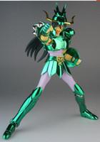 figuras de acción saint seiya al por mayor-en stock CS Aurora Modelo Dragón Draco Shiryu v1 Saint Seiya figura de acción juguete bronce casco paño mito armadura de metal