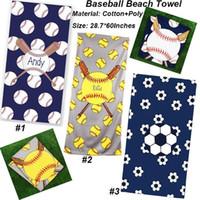 toalhas de banho de boa qualidade venda por atacado-150 * 75 cm de beisebol toalha de praia cobertor de algodão quadrado banho de microfibra toalhas de banho capa de piquenique ao ar livre tapetes de carpete yoga boa qualidade 5 estilos