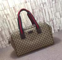 große segeltuchgepäckbeutel großhandel-Neue mode männer frauen Leinwand reisetasche duffle bag marke designer gepäck handtaschen große kapazität sporttasche 50 CM