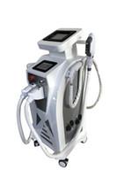 q geschaltet nd yag laser hair groihandel-3IN1 IPL + RF + YAG Haar-Abbau-Maschine Q-Schalter Nd-YAG Laser-Tätowierungsabbau-Hautverjüngungsmaschine heißer Verkauf