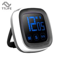 Wholesale timer digital electronics for sale - Group buy TTLIFE Large Electronic Touch Screen LED Display Kitchen Timer Electronic Digital Kitchen Cooking Timer Refrigerator Watch