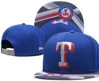 rangers şapkaları toptan satış-2019 en kaliteli Snapback Rangers Şapka T Kap Ayarlanabilir Beyzbol Şapkaları Snapbacks Strapback Golf Casquette Spor kap erkek kadın kemik