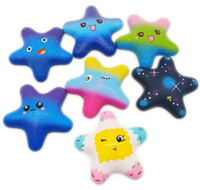 Wholesale retail novelty toys resale online - Free DHL Squishy Star Squishies Slow Rising Soft Squeeze Cute Cell Phone Strap Gift Stress Kids Toys Decompression Toy Novelty Items
