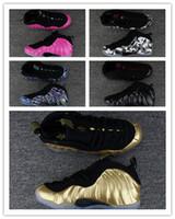 sapatilhas de ouro vermelho venda por atacado-NIKE AIR MAX shoes Espuma de um Abalone Habanero Vermelho Floral Penny Hardaway Homens Basquete Crianças Sapatos Preto Metálico Ouro Alternate Galaxy Velo Esportes Sneakers