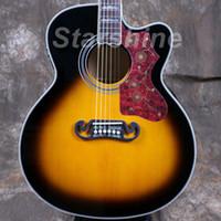 jumbo akustikgitarre groihandel-Starshine Elektrische Akustikgitarre ZZ-CJ20 Jumbo Body 43 Grover Cutway Guitar Bone Nut And Saddle