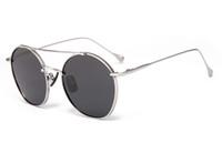 çok renkli yuvarlak güneş gözlüğü toptan satış-Yeni Yuvarlak Çerçeve Renkli Renkli Lens UV400 ile Moda Güneş Çoklu Yüksek Kaliteli Yuvarlak Metal Güneş