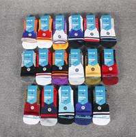 meias toweling mens venda por atacado-3 Par New stance elite meias grossas toalha listra meias esportivas mens meias de treinamento de basquete tubo profissional