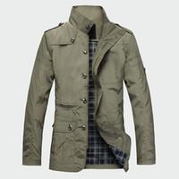 chaquetas coreanas venden al por mayor-Venta caliente Moda Chaquetas de los hombres delgados Ropa de abrigo Coreano Cazadora cortavientos Otoño Abrigo Poliéster Primavera Hombres Abrigo M-5XL