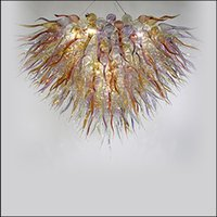 led küche decke dekorative beleuchtung großhandel-Moderne Art Deco mundgeblasenem Glas Kronleuchter Beleuchtung Decke dekorative handgemachte mundgeblasenem Glas Pendelleuchten für Küche Dekor