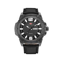relógio de discagem preta china venda por atacado-Confortável novo design de alta moda China oem serviço relógio preto discagem fabricante Nylon Strap conceitos relógios de quartzo automatik