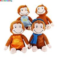 детские игрушки обезьяны оптовых-30CM Любопытный Джордж Обезьяна Плюшевые Куклы Игрушки Чучела Плюшевые Детские Подарки