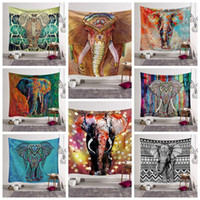 Wholesale beach decorations resale online - 12 Styles Bohemian Mandala Tapestry Beach Towel Elephant Printed Yoga Mats Polyester Bath Towel Home Decoration Outdoor Pads CCA11528