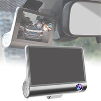 Wholesale camera install resale online - 4inch Dash Cam Rear View Camera Wide Angle Three Lens HD Vehicle Easy Install Night Vision Car DVR Parking Monitor LCD P