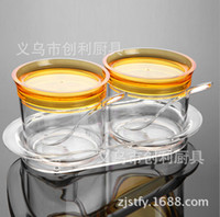 Wholesale bamboo salt box online - Supplies Color Boxed Second Gram Force pc Suit Colour Lid To Flavor Pot Kitchen Restaurant Articles