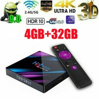 ingrosso antenna android tv box-2019 Nuovo H96 Max Android 9.0 4K TV Box RK3318 2.4G / 5G WiFi + 4 32GB UHD 4K Media Player C8N9 tv HD Network Player Set Top Box Antenna TV