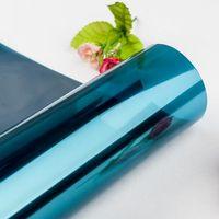 cam için kendinden yapışkanlı film toptan satış-5 Boyutları Gizlilik Cam Filmi Güneş Yansıtıcı Cam Sticker Gümüş Katmanlı Tonu Oda Yapı Dekor Duvar Kağıdı Kendinden Yapışkanlı Ayna Filmi