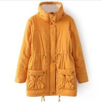 Wholesale womens green parka warm for sale - Ladies Parkas Women Winter Coat Thickening Cotton Warm Winter Jacket Womens Outwear Female Parkas Women Winter Jacket Plus Size