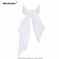 Wholesale ladies white handkerchiefs resale online - When We Retro White Women Scarf Small Square Solid Color Collar Little Cravat Scarves cm Ladies Chiffon Handkerchief SD0017