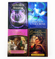 Wholesale toy unicorns resale online - 2020 New Styles English Oracle Cards mm Unicorns Lenormand Witches Animal Spirit Tarot Cards Desktop Game Toys L505