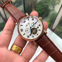Wholesale wrist watches for men for sale - Group buy All sub dials work Top brand mens luxury watches Mechanical Automatic Genuine Leather strap fashion wrist watch for men best gift relogios