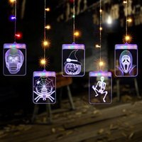 Wholesale shopping cards resale online - USB Interface LED Light String D Halloween Festival Wedding Room Party Decoration Hanging Lamp Acrylic Night Lighting shop store Decor