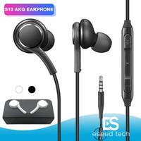 fones de ouvido do ouvido da orelha do oem venda por atacado-OEM s10 fones de ouvido fones de ouvido fones de ouvido fones de ouvido para iphone 6 plus samsung s9 s8 s7 plus para jack in ear 3.5mm preto e branco eob955