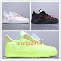 running shoes al por mayor-2019 New OFF WHITE Air Force 1 Mens Forces Volt 2.0 Green Running Shoes Black Warrior Off Sport Casual Skateboard Shoes Mujer Forced Designer Sneakers
