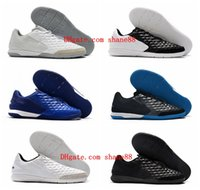 Wholesale children indoor soccer shoes for sale - Group buy 2020 top quality mens boys soccer shoes Tiempo Legend VIII Academy IC indoor soccer cleats women children football boots size