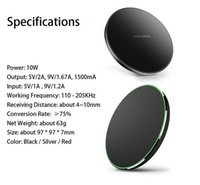 tragbare aufladeeinheit für iphone 5c großhandel-10w Qi Wireless Charger für iPhone X Xs XR 8 plus Schnellladung für Samsung S10 S9 Note 9 USB-Handy-Ladegerät