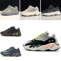 zapatos casuales juveniles al por mayor-addidas yeezy 700 Zapatillas de correr para niños Kanye West Wave Runner 700 Youth Sply 700 Sports Sneakers Zapatillas de baloncesto para niños Zapato de niño pequeño con caja